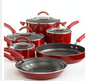 kitchenaid 11 piece pots pans set 99 75 reg 275 rh pinterest com au kitchenaid pots and pans red kitchenaid pots and pans reviews
