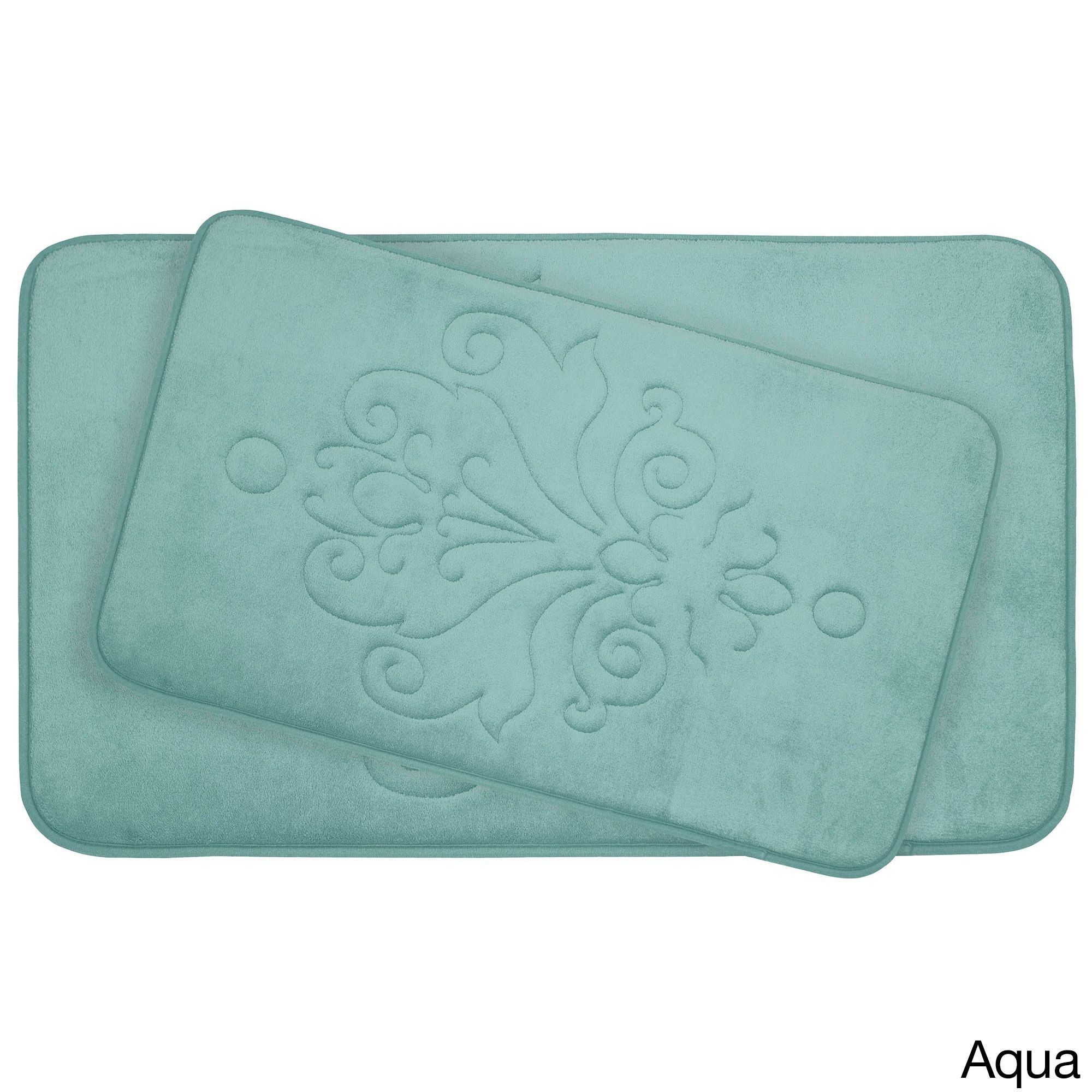 4b39540b226 Reve Micro Plush 2-piece Memory Foam Bath Mat Set with BounceComfort ...