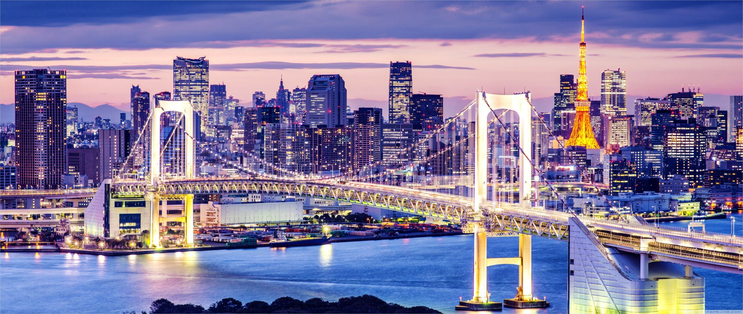 4k 21 9 Wallpaper Japan In 2020 Summer Travel Scenic Rainbow Bridge