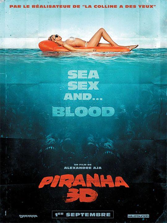 French Piranha 3D Poster