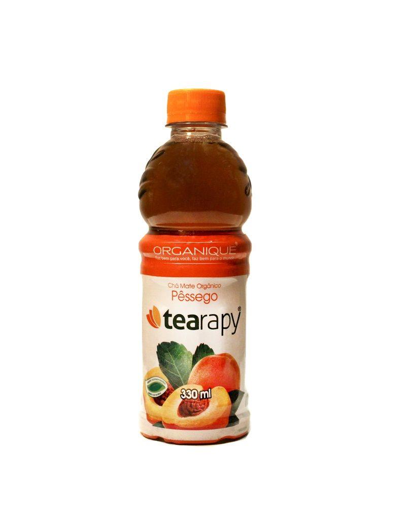 Mate com pêssego orgânico 330ml  Ricos em antioxidantes, o chá Mate orgânico Tearapy é lançamento da Organique como alternativa para quem busca uma alimentação e estilo de vida saudável. Todos os sabores – mate puro, com pêssego e com limão – são 100% naturais.  Sem sódio x Sem corante x Sem conservantes