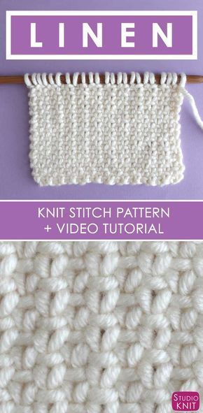 How To Knit The Linen Stitch Pattern With Video Tutorial Studio