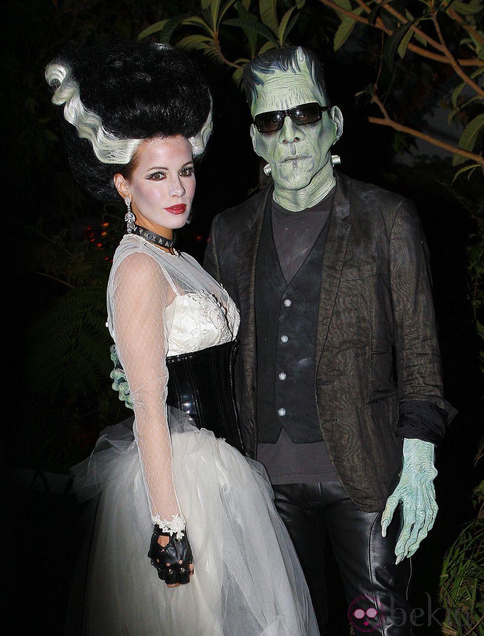 Maquillaje de la novia de frankenstein para halloween
