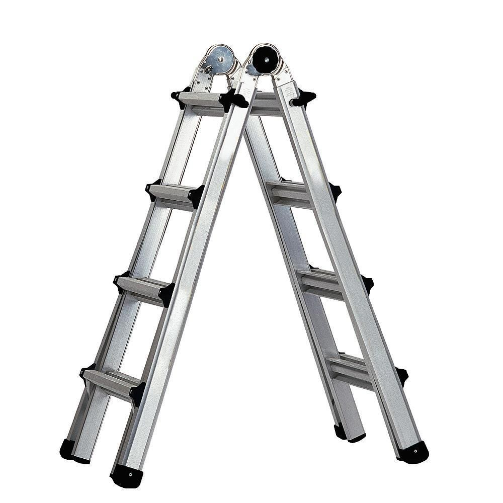 17 Foot Folding Step Ladder Cosco Aluminum Multi Position Worlds Greatest Ladder Cosco Cosco Step Ladders Ladder