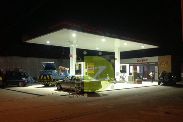 Zedu LED Lights Manufacturer Gas station LED lighting project with LED Canopy L.. : gas canopy manufacturers - memphite.com