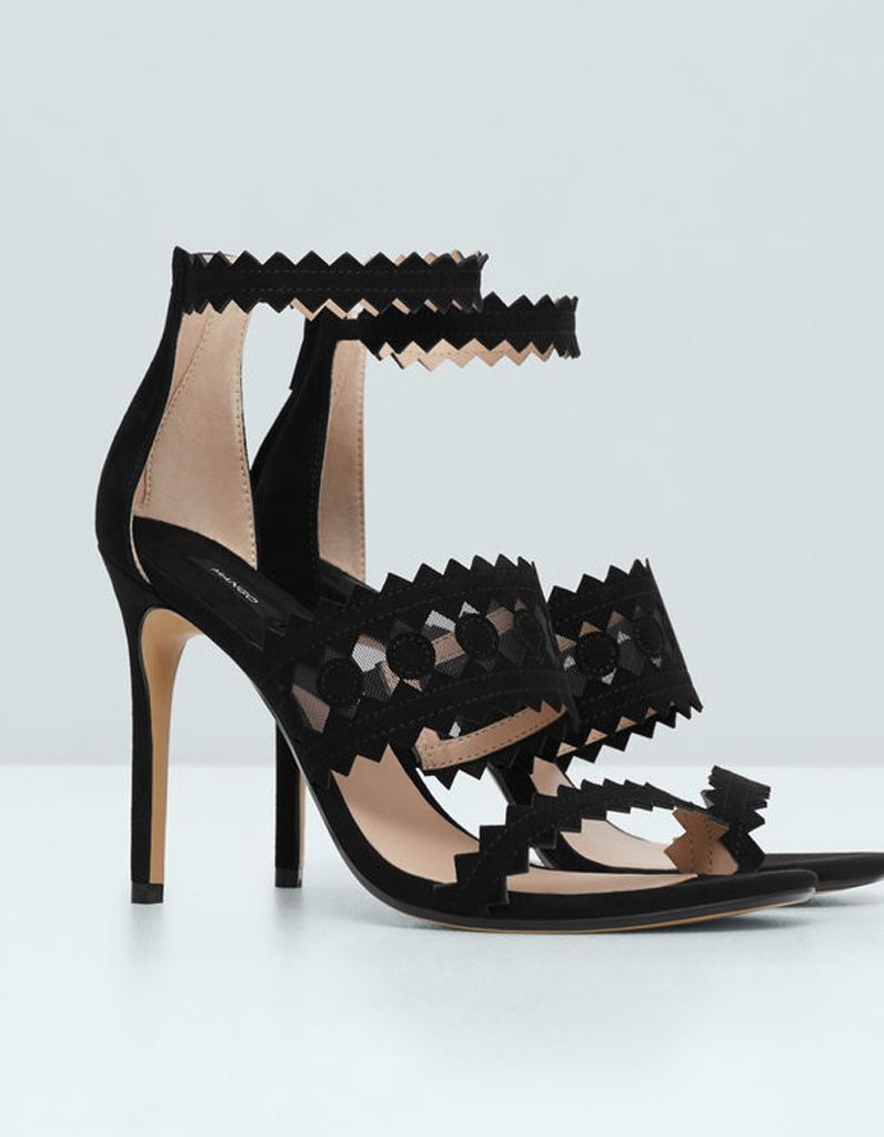 Nouvelle haute couture de haute qualité femmes bout pointu été confortable talon chaussures Rivet creux Sandales,rose,10