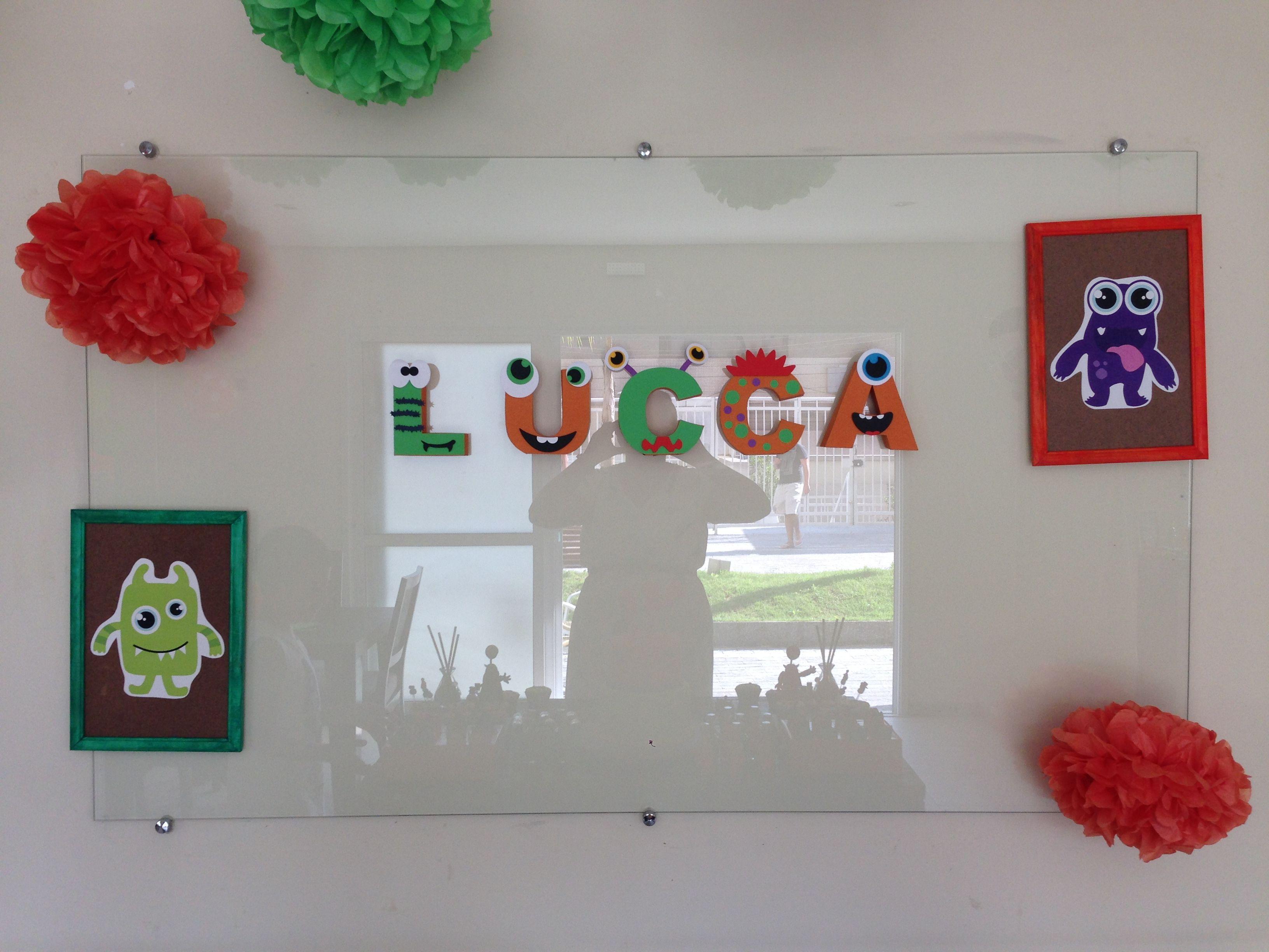 Aniversário de um ano do Lucca, tema Monstrinhos