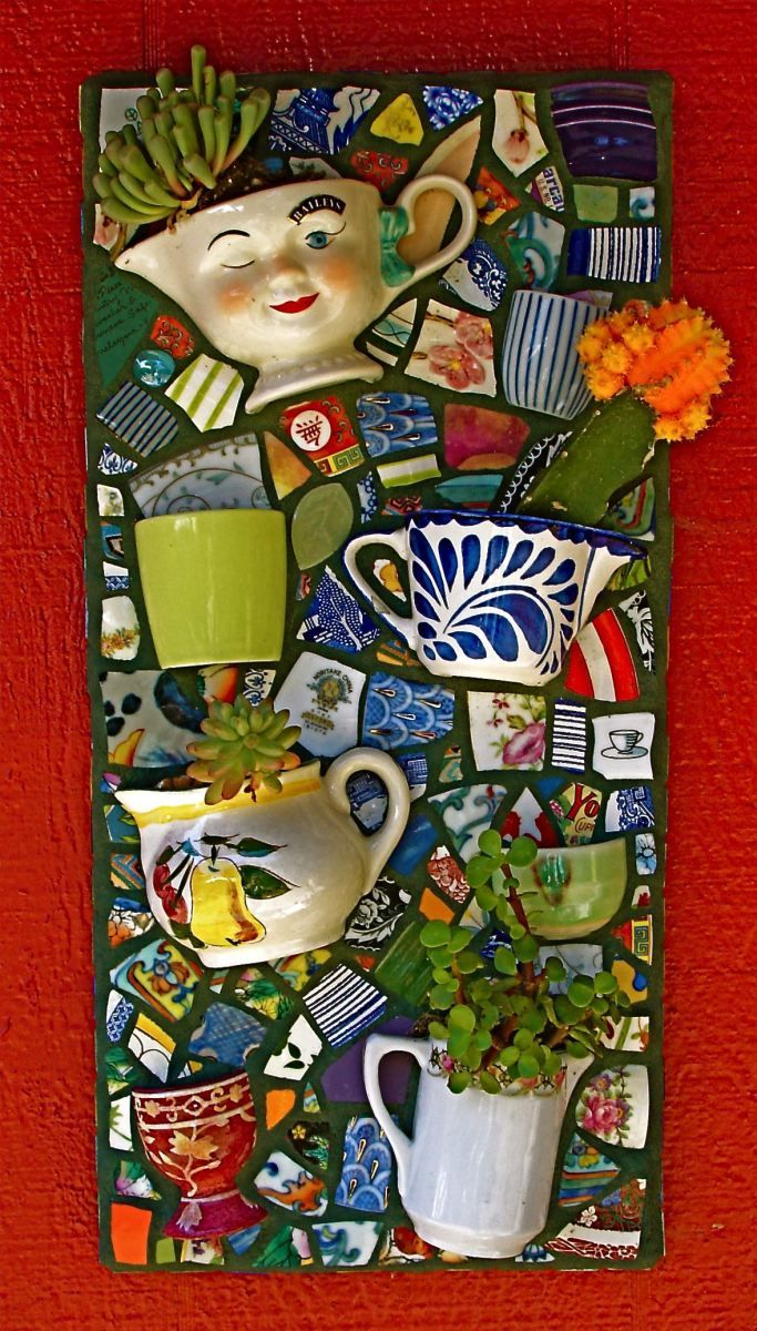 Succulent wall planter mosaics gardens and craft
