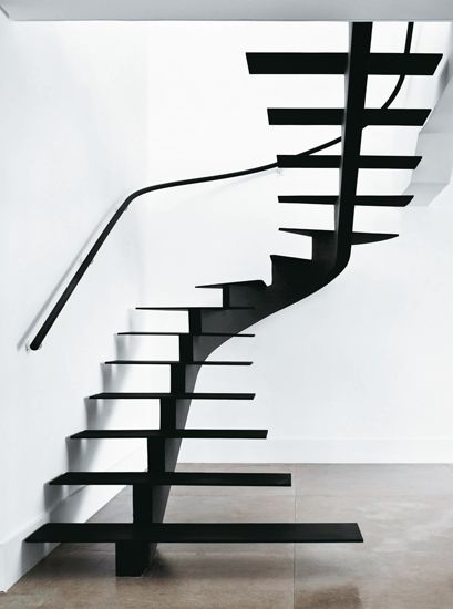 """ladder black stairs....a celebration in """"stair design""""..in my humble opinion...."""