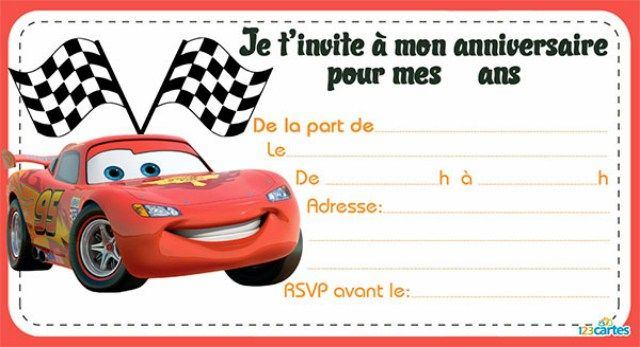 message anniversaire flash mcqueen