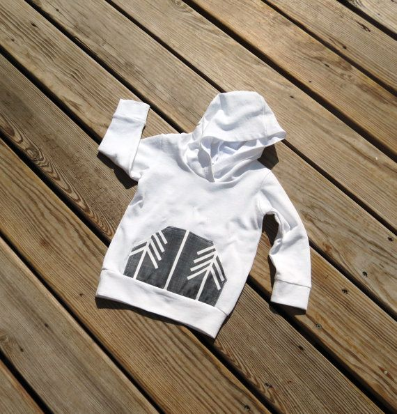 White hoodieBaby sweatshirtGender neutral by sweetwhitepeony2