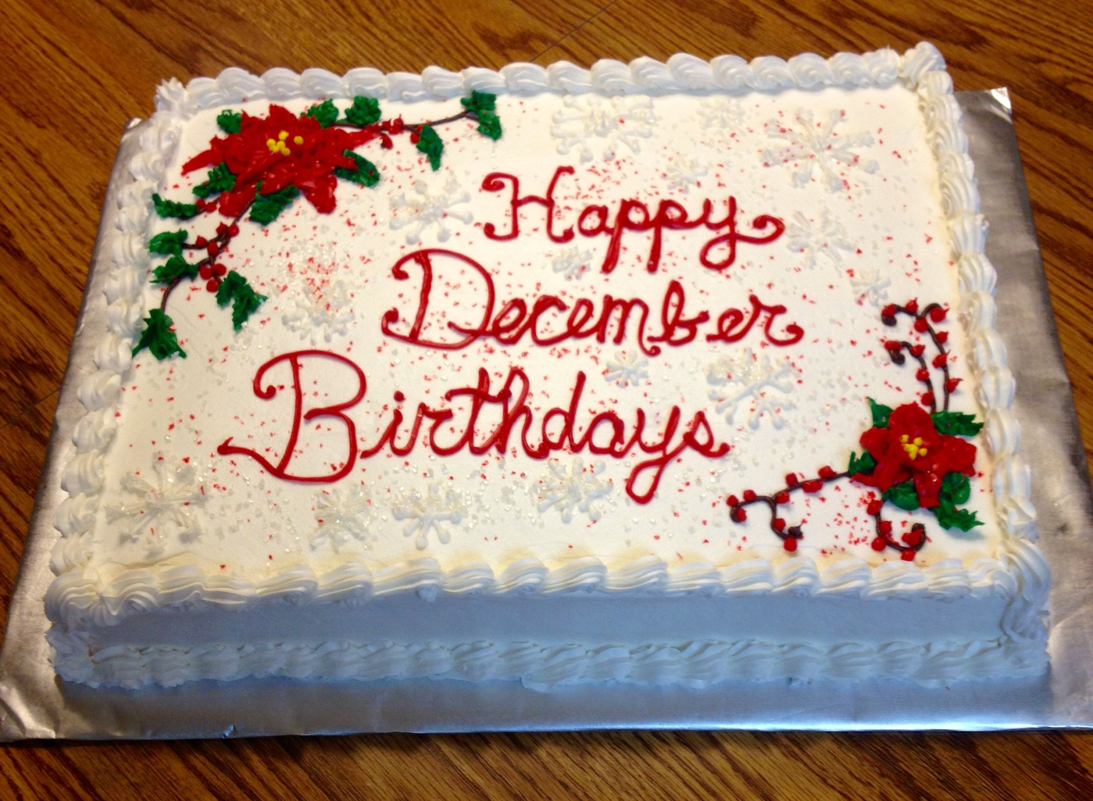 December Birthday Cakes With Images December Birthday 4th Of