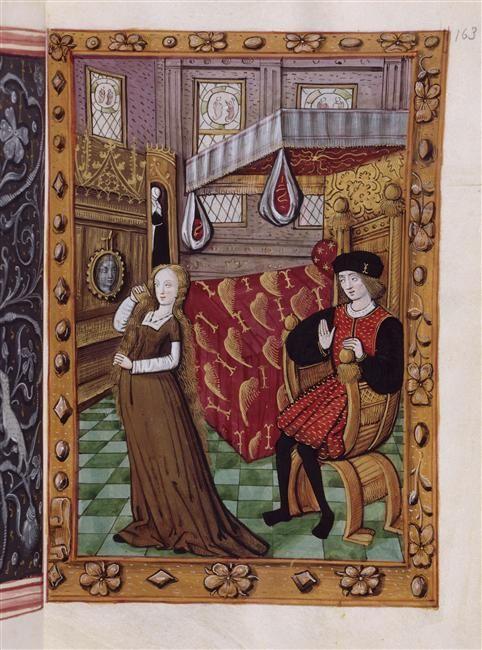 Histoire D Amour Sans Paroles Homme Et Dame Dans Chambre A Coucher Art Medieval Histoire D Amour Les Arts