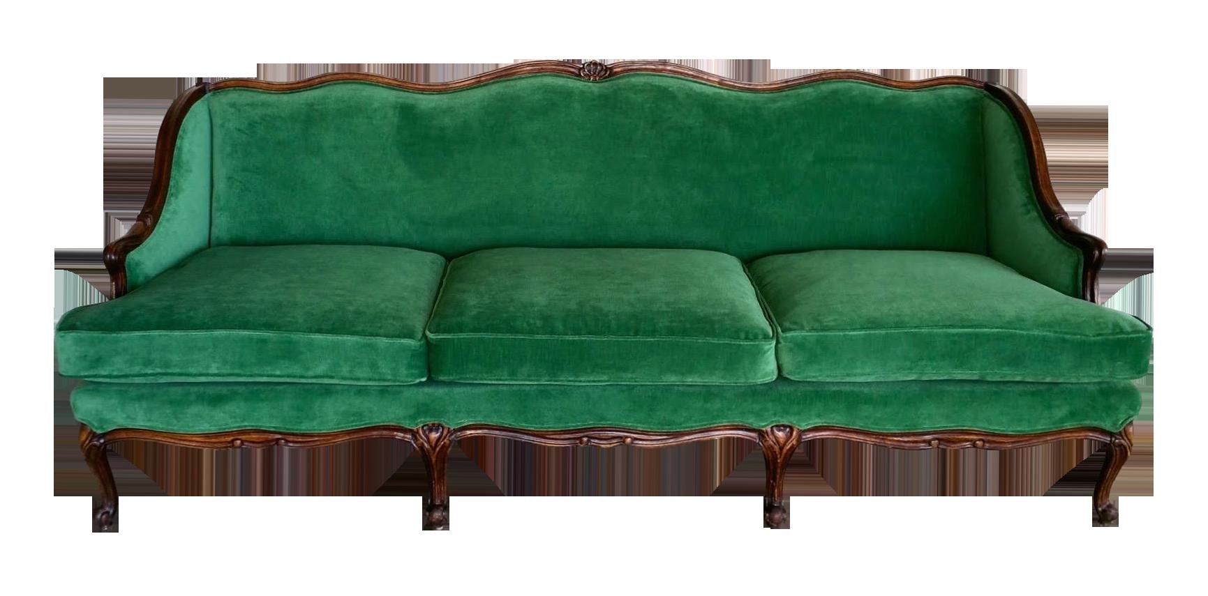 emerald green sofa covers sleeper costco vintage velvet on chairish