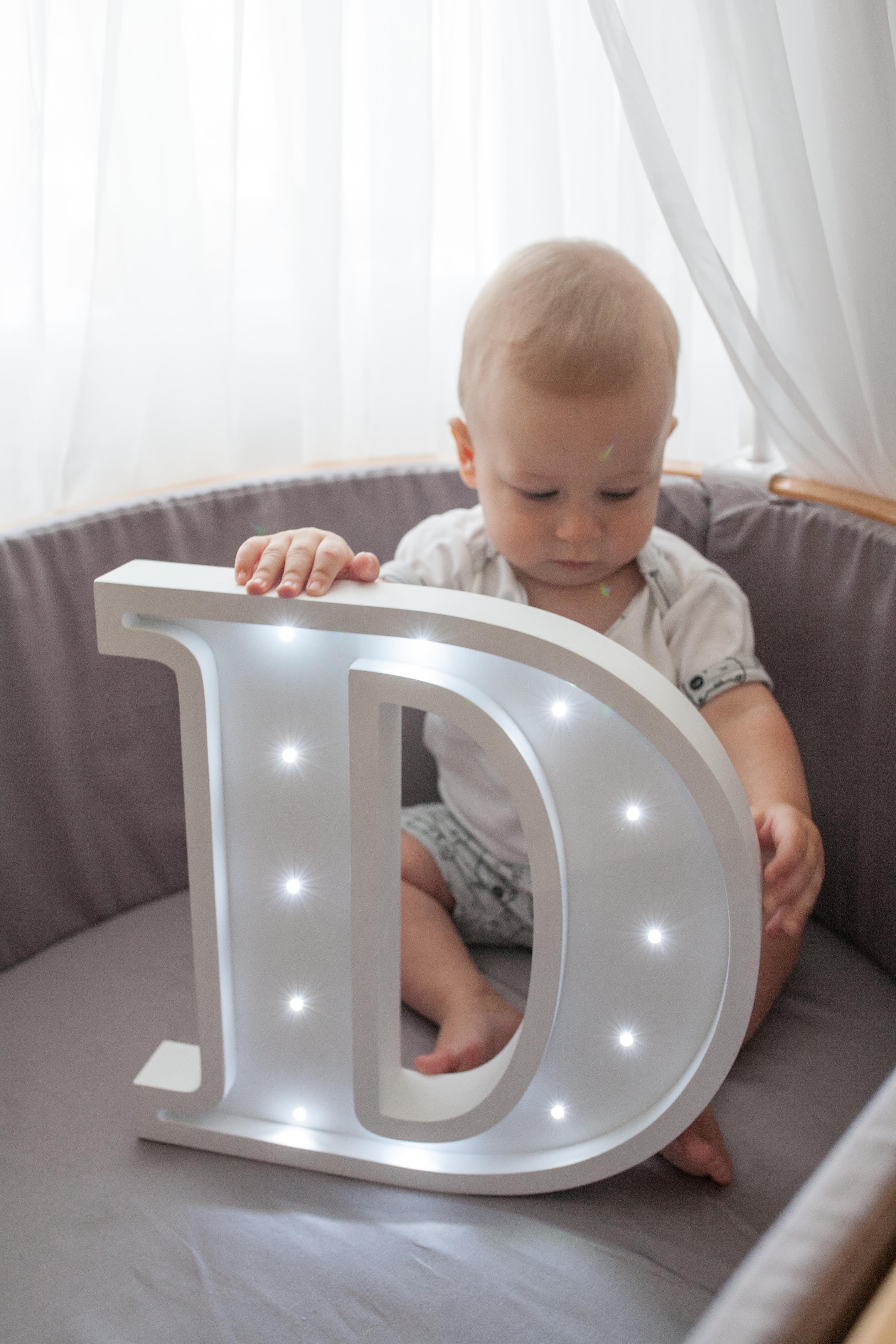 Night lights nursery - Letter D Lights Wooden Letters Marquee Letter Light Marquee Letters Nursery Light Wooden Letters Night Light Kids Lamp Nursery Decor