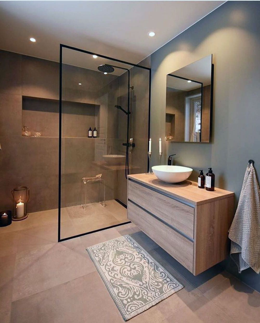 50 Adorable Mixing Rustic Theme And Scandinavian Bathroom Ideas In 2020 Bathroom Design Inspiration Modern Bathroom Design Bathroom Style