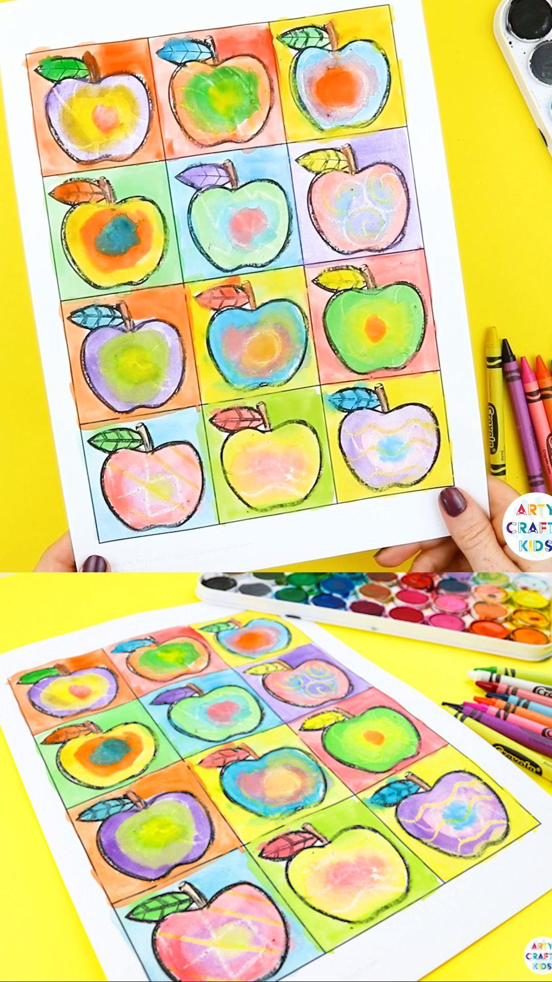 Photo of Kandinsky Inspired Apple Art   Arty Crafty Kids