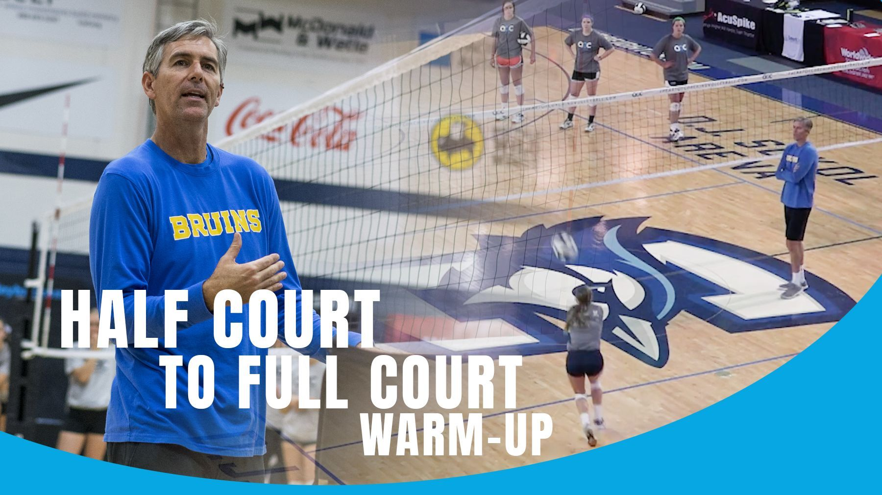 Half Court To Full Court Warm Up The Art Of Coaching Volleyball Basketball Workouts Coaching Volleyball Basketball