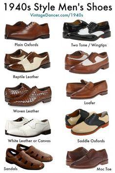 1940s Mens Shoes | 1940er schuhe, Männerschuhe, Vintage
