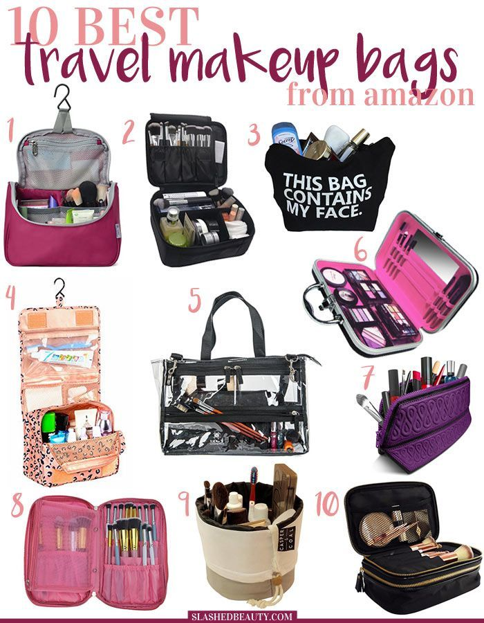 10 Best Travel Makeup Bags to Buy on Amazon | Travel makeup bags ...