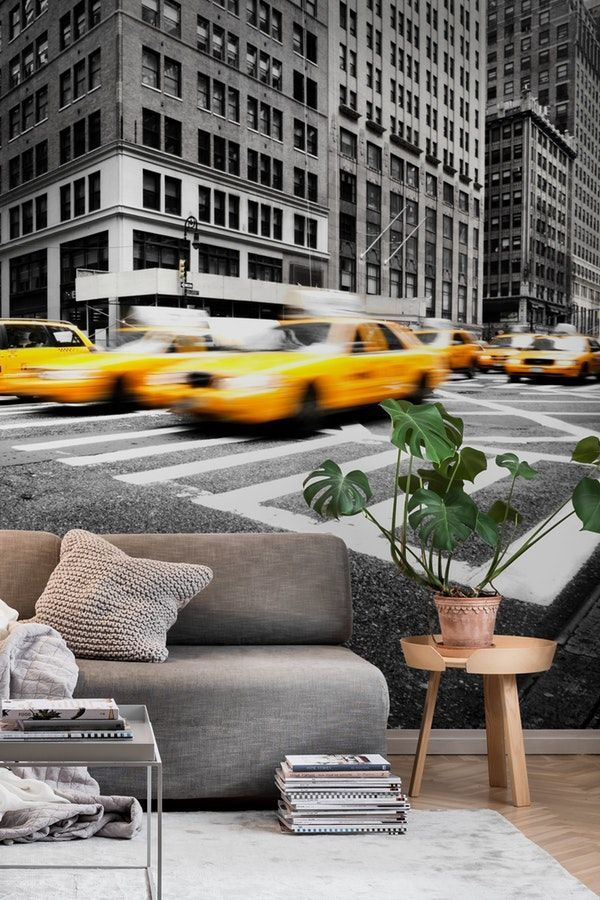 New York taxi Wall mural Wall murals Taxi and Wallpaper paste
