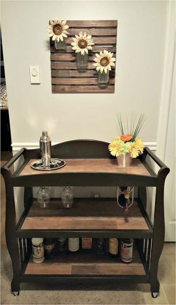 Changing Table To Bar Cart In 2019 Bar Carts Beverage