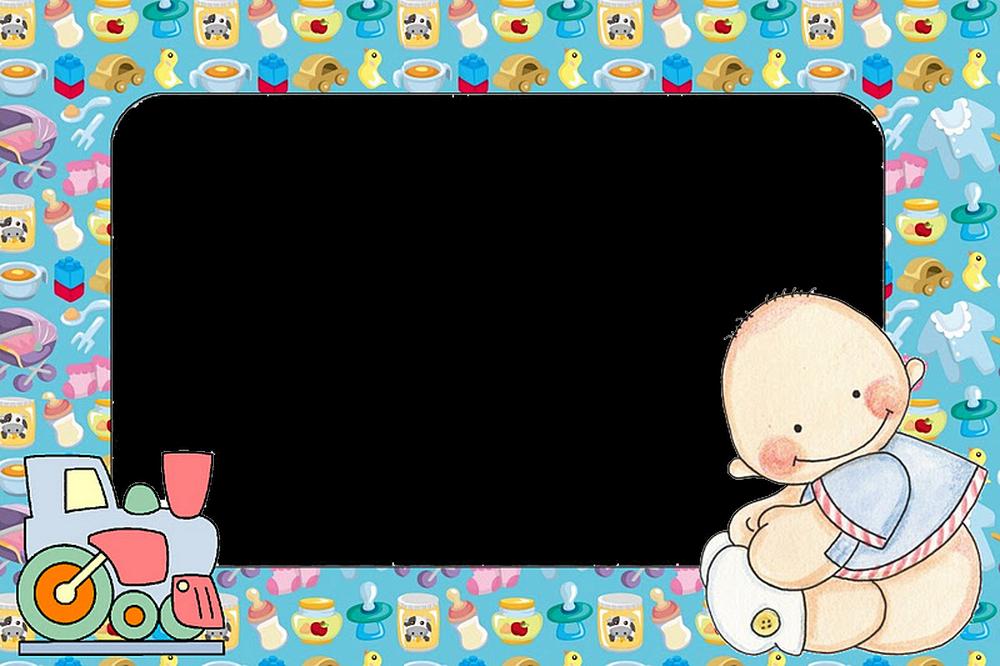 Marco de bebe y tren cosas de beb pinterest marcos - Marcos sencillos para fotos ...