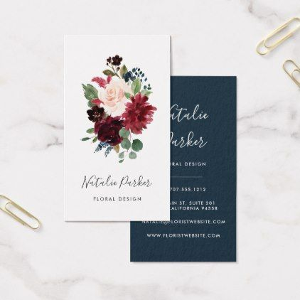 Radiant Bloom Vertical Business Card Vertical business cards
