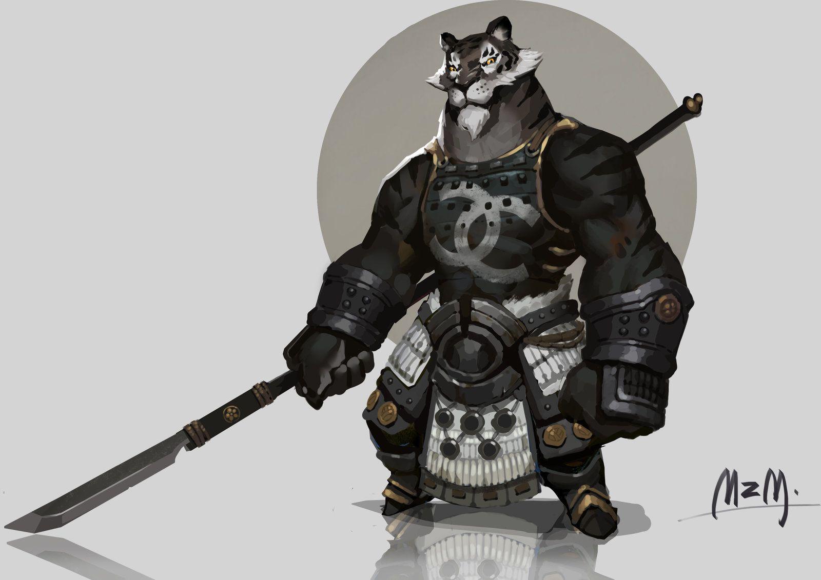 Black Tiger in CHANEL, M ZM on ArtStation at https://www.artstation.com/artwork/black-tiger-in-chanel