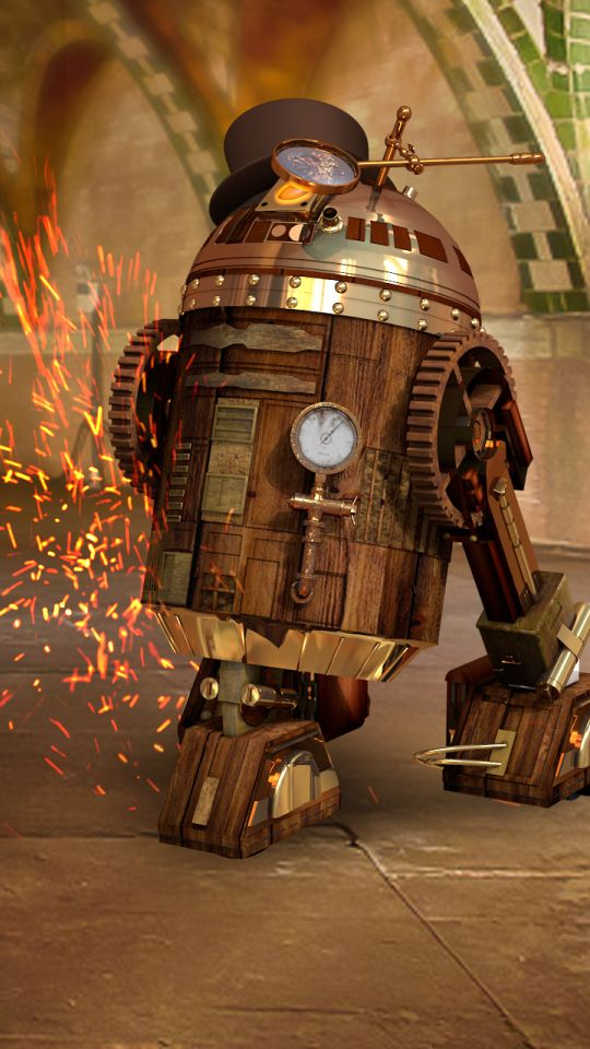Steampunk Star Wars R2d2 Live Wallpaper For Android Https Play Google Com Store Apps Details Id Com Droidspx Steampunk Wallpaper Star Wars R2d2 Steampunk