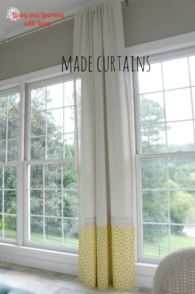 No Sew Curtains With Added Piece At Bottom Wall Colour Sherwin Williams Perfect Greige