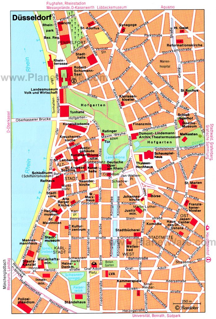 dusseldorf map of attractions dsseldorf Pinterest Dusseldorf