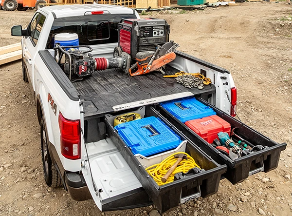 Decked Truck Tool Box In 2020 Truck Bed Tool Boxes Truck Tool Box Tool Box