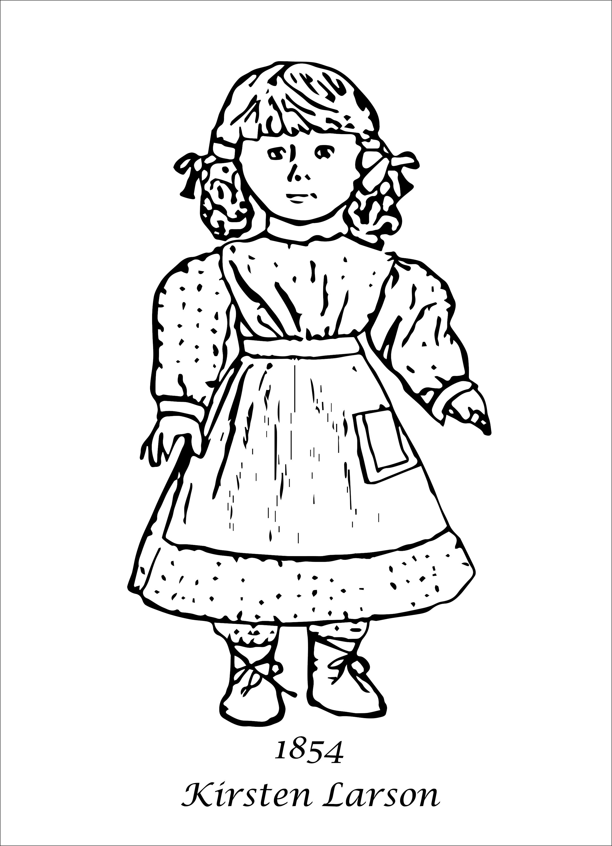 American Girl Coloring Pages | American Girl | Coloring pages for ...
