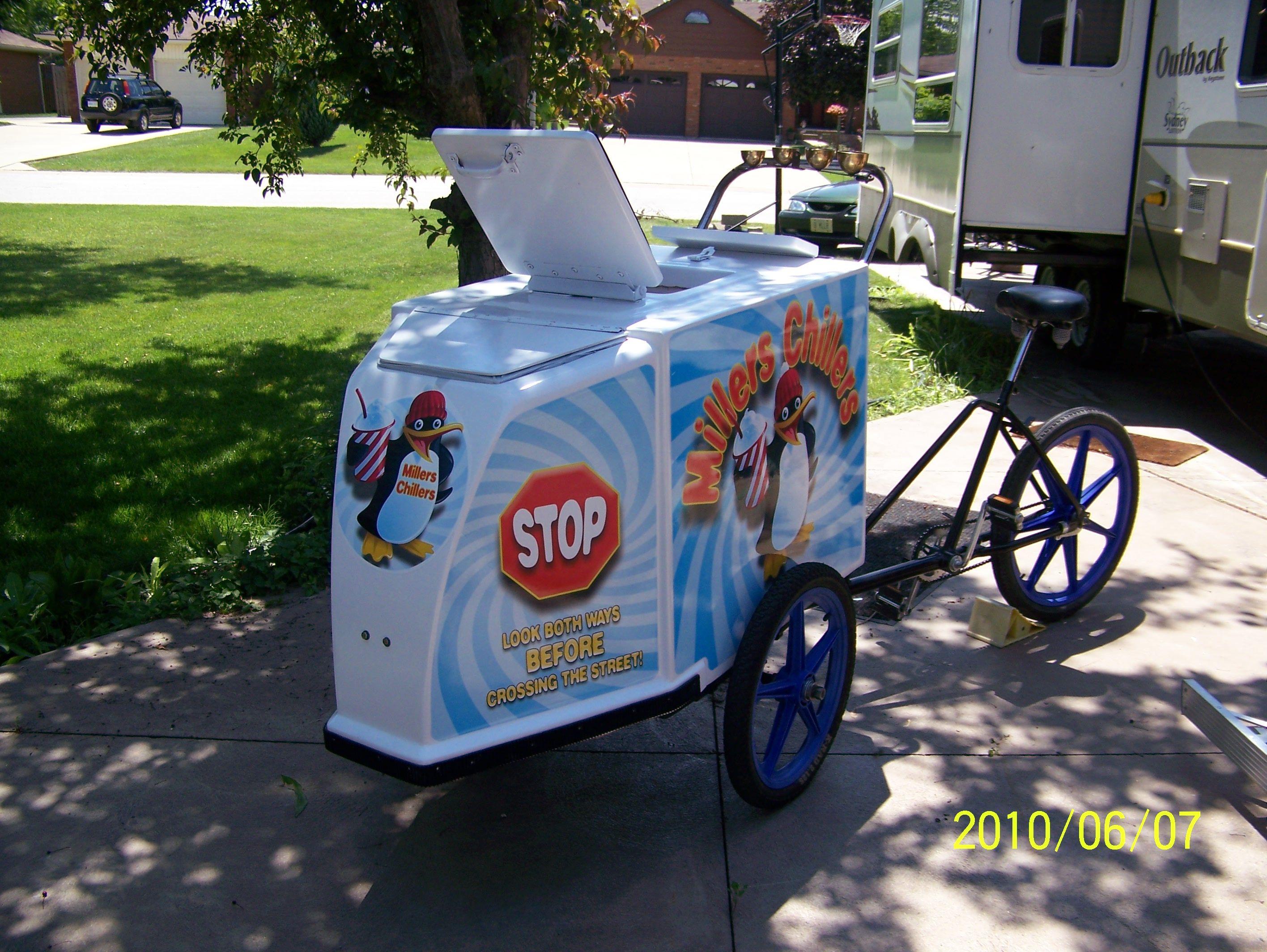 Millers Chillers ice cream bike 3