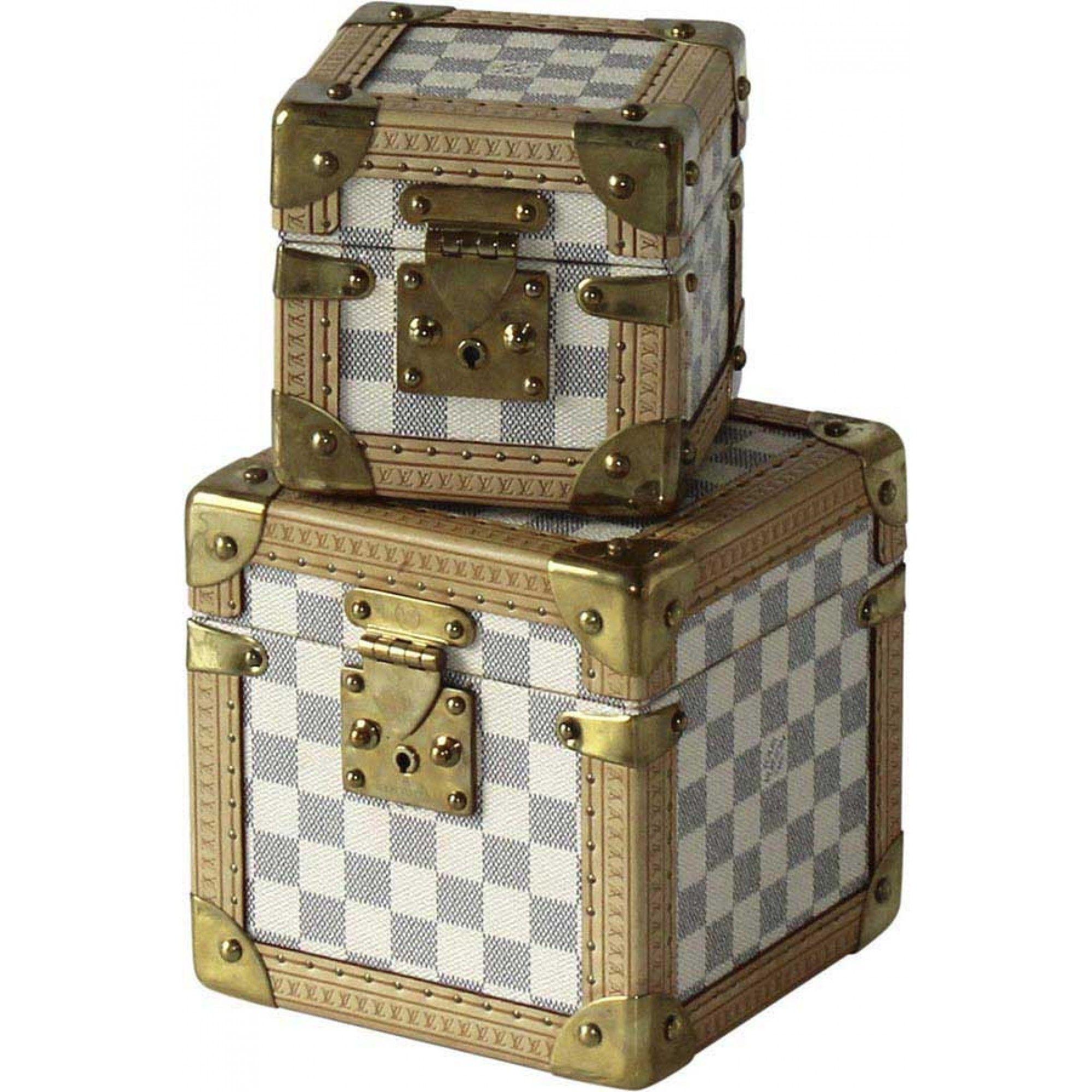 Louis Vuitton Cube Case Damier Azur GM - Louis Vuitton - Brands ...