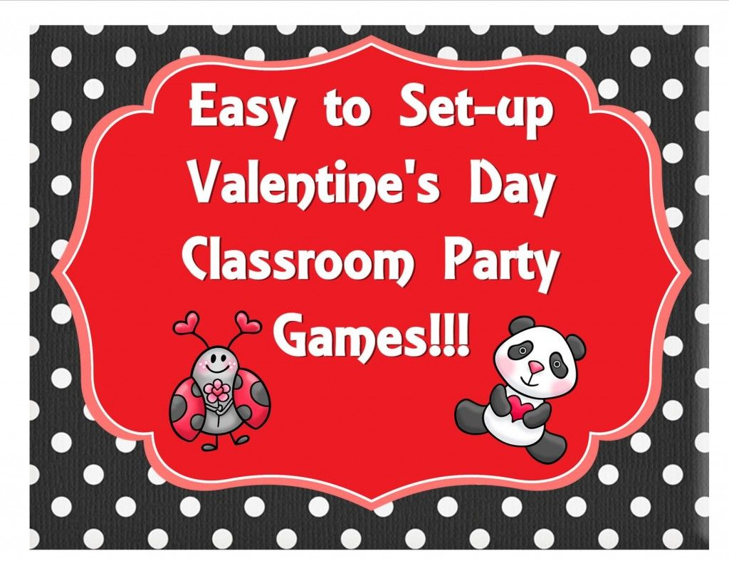 Easy to set-up Valentine's Day Games for Preschool, Kindergarten, First, and Second Grades!