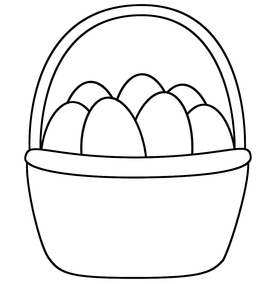 easter eggs in a basket coloring pages | Easter Basket Coloring Page | doyal | Easter bunny ...
