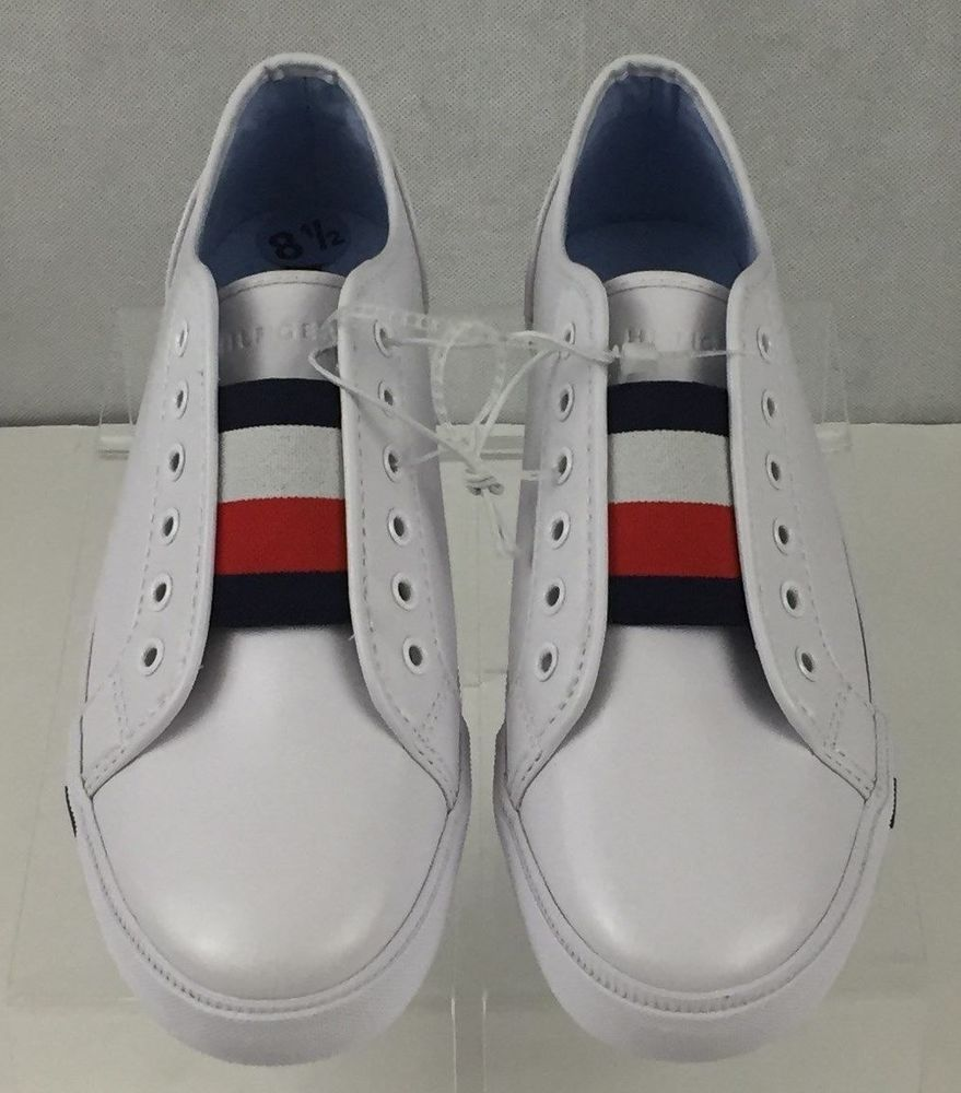 0e6024fa8b00 Tommy Hilfiger Anni White Slip On Sneaker Womens Size 8.5M  TommyHilfiger   Casual