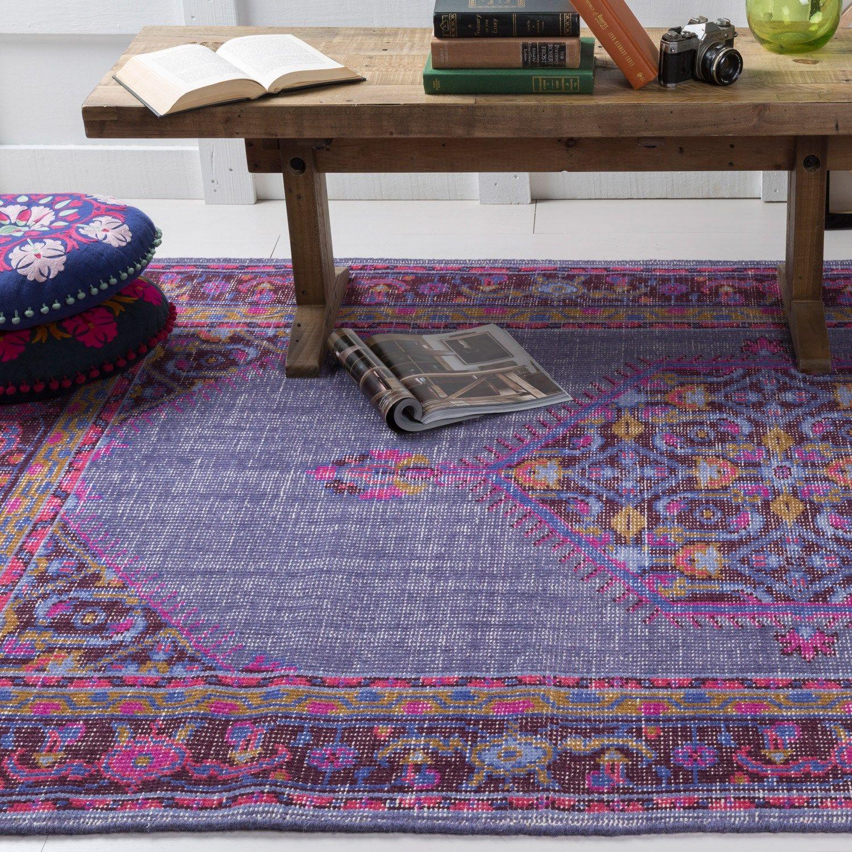 surya zahra purple hand knotted wool rug laylagrayce surya