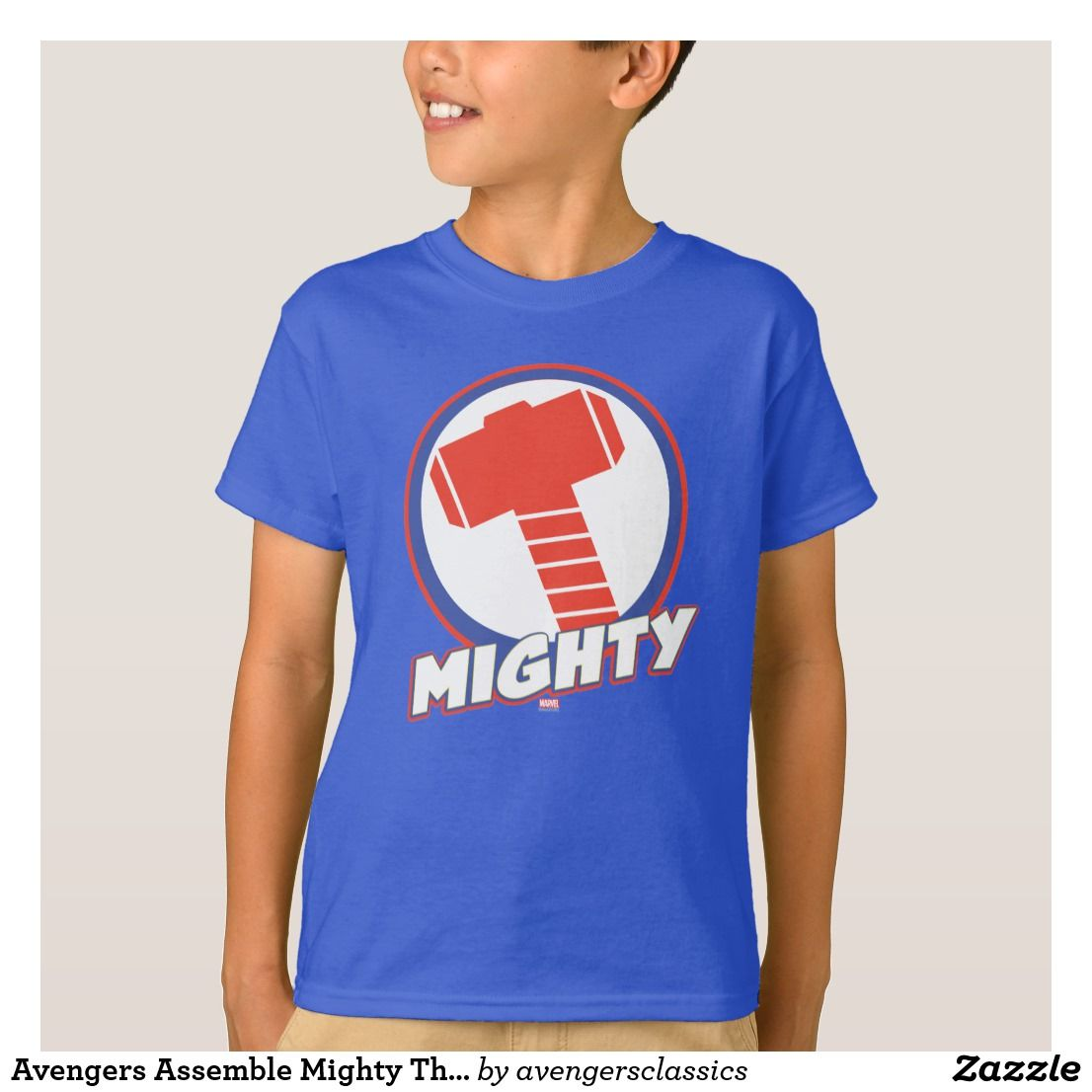 Avengers Assemble Mighty Thor Logo T Shirt The Avengers Classic