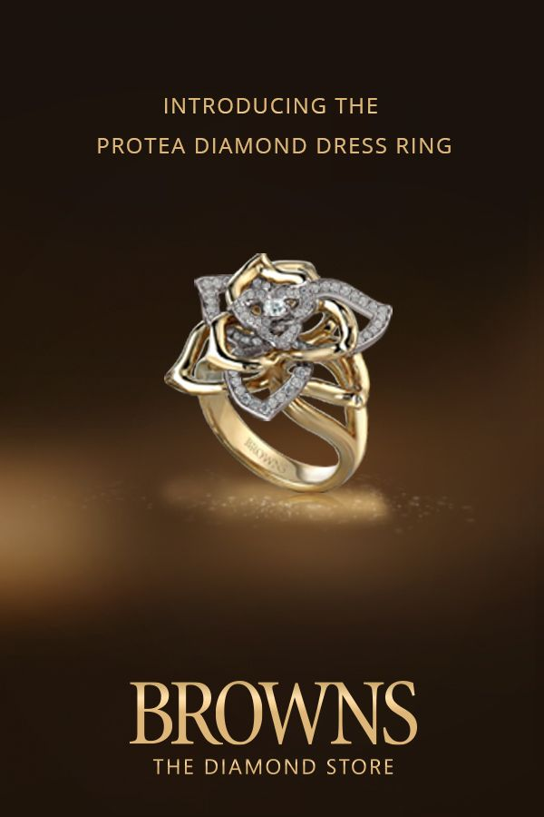 Introducing The Protea Diamond Dress Ring This Is The Protea In Full Bloom It Is Possibly The Most Diamond Dress Ring Wedding Rings Engagement Dress Rings