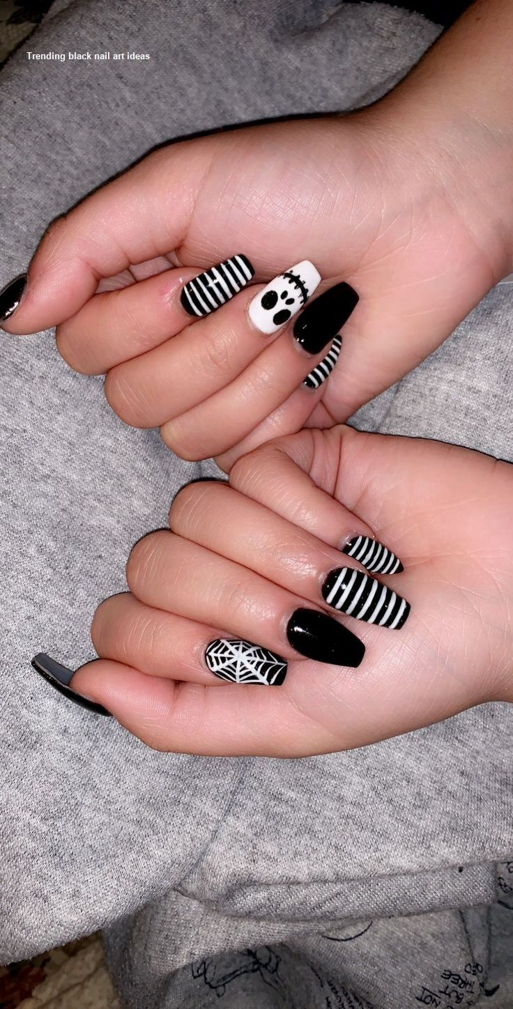 chevron nails in 2020 | Halloween nails easy, Easy ...