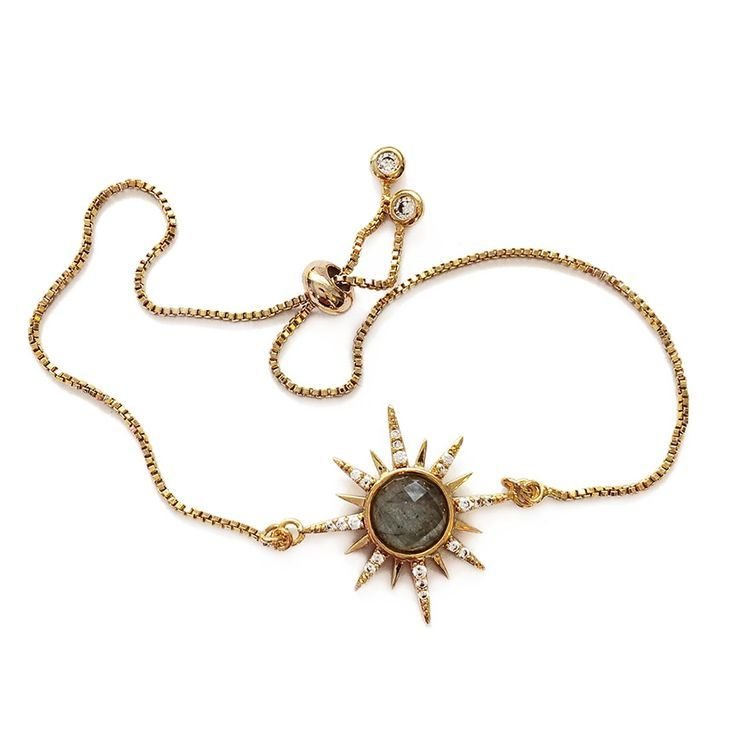 Photo of Gemstone Starburst Bracelet – Labradorite – Elizabeth Stone Jewelry