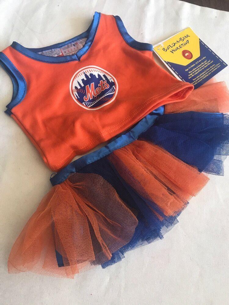 Build a bear clothes mets tutu orange blue