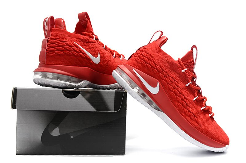10a5fb8509d7 Nike LeBron 15 Low University Red White Men s Basketball Shoes ...