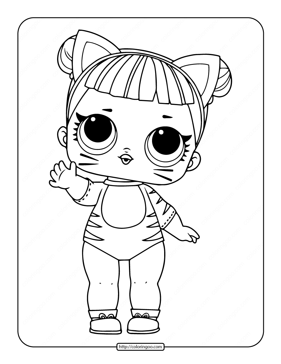 Printable Lol Surprise Baby Cat Coloring Pages In 2021 Cat Coloring Page Coloring Pages Baby Cats