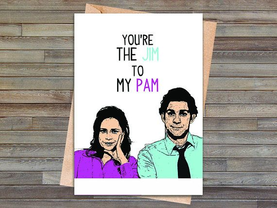 The office jim and pam birthday or anniversary card the office