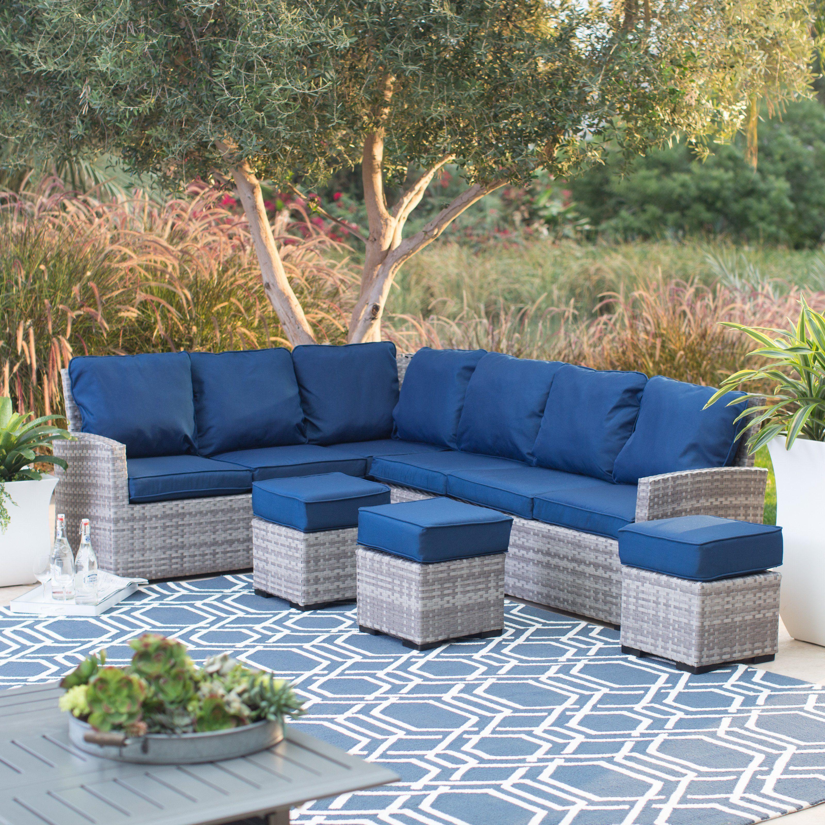 Belham Living Brookville All Weather Outdoor Wicker Sofa ...