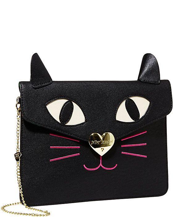 8b529fd8f7f0 KITCHI CAT CLUTCH BLACK  purrrfectly cute. KITCHI CAT CLUTCH BLACK   purrrfectly cute Betsey Johnson Handbags